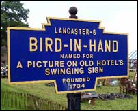 Village of Bird-in-Hand, Lancaster County PA